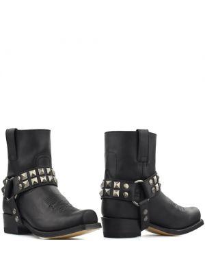 Sendra biker boots 15408 negro zwart met zilveren stud sporen