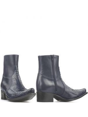 Sendra heren boots 5701P python blauw