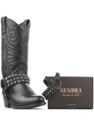 Sendra laarzenspoor Arnes 302 zwart met losse bandjes en studs