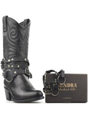 Sendra laarzenspoor Arnes 332 zwart met losse bandjes en studs