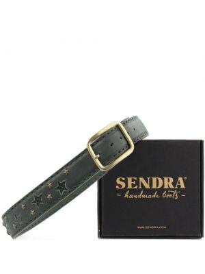 Sendra riem 1079 groen met python en gouden sterren