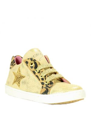 Shoesme gouden schoentjes met panterprint UR5S023-D