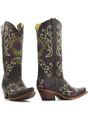 Tony Lama boots 6072L Chocolate Saignets Goat