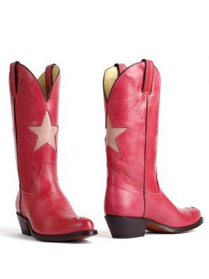 Tony Mora cowboylaarzen 2135 Savoy roze met ster
