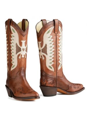 Tony Mora cowboylaarzen met adelaar 2845 Natural Cuero