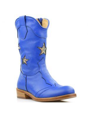 Zecchino d'Oro laarzen 1880 blauw met sterren