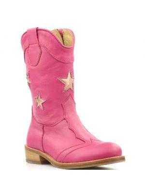 Zecchino d'Oro laarzen 1880 roze met sterren