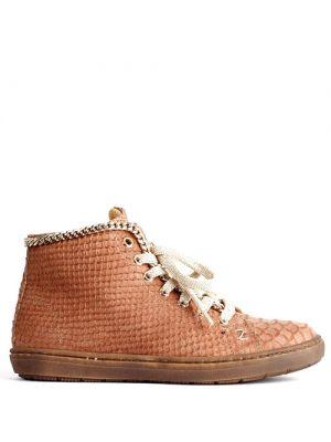 Zecchino leren sneakers python camel 4246