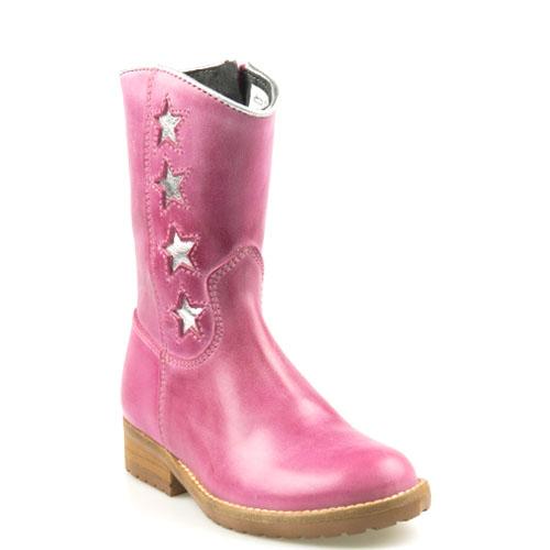 Hip Kinderschoenen.Hip Kinderschoenen Fuchsia Roze H1322 Ster