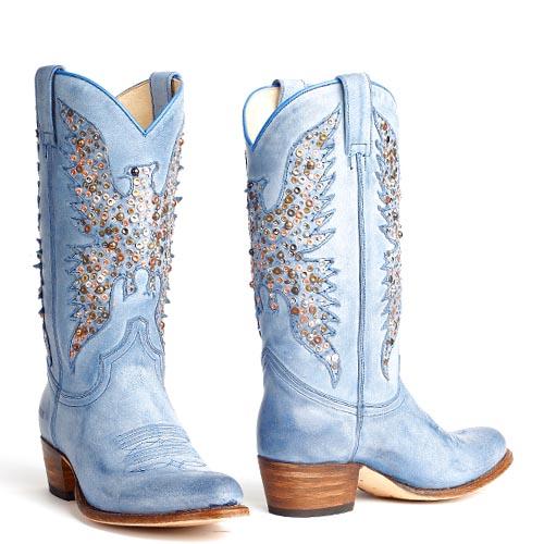 Sendra laarzen 8987 Sara Sabia Azul Jeans blauw