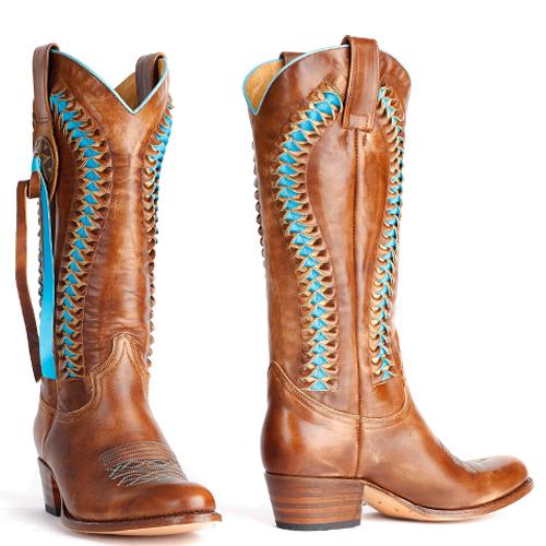 Sendra laarzen debora vlecht 8990 turquoise