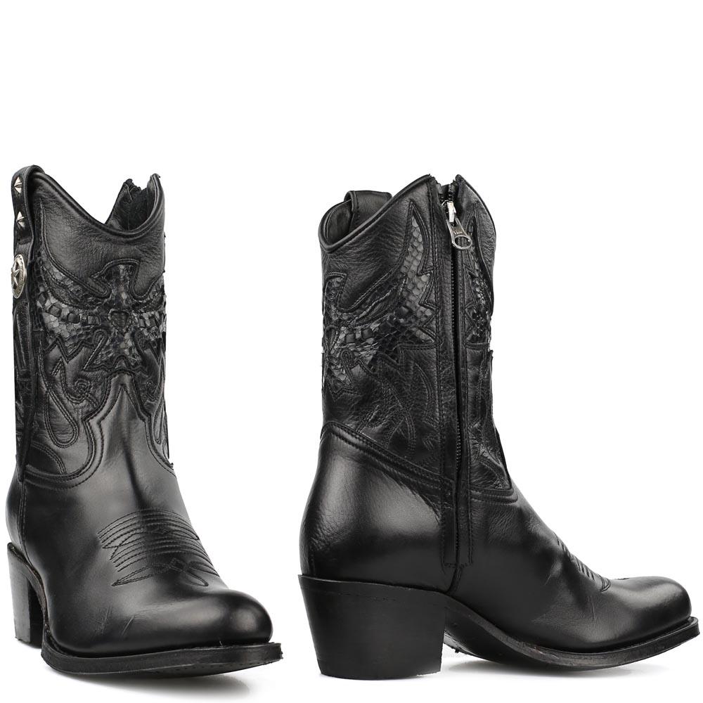 Sendra laarzen 14298 zwart met rits