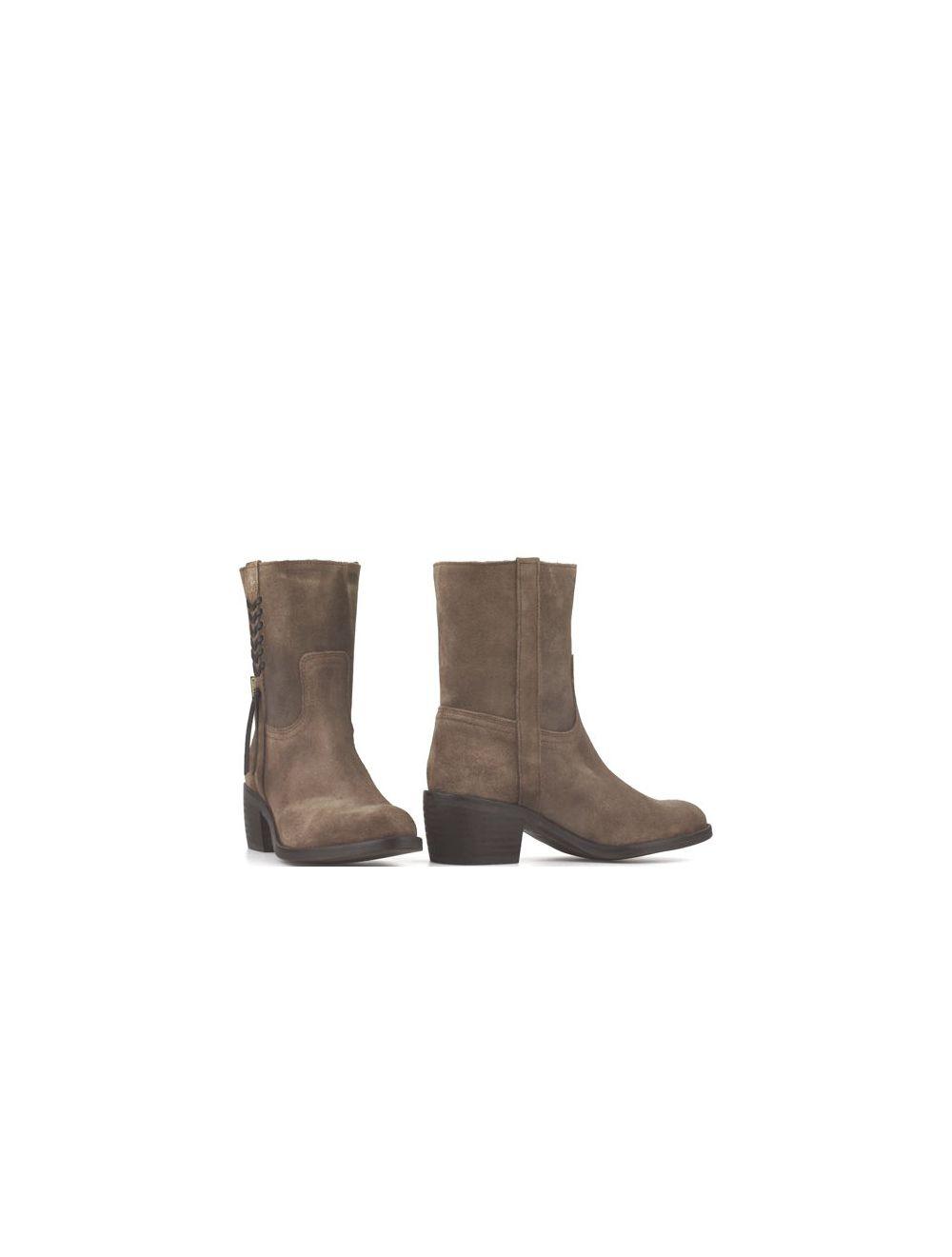 Dakota Boots 432 dames enkellaarsjes taupe suède