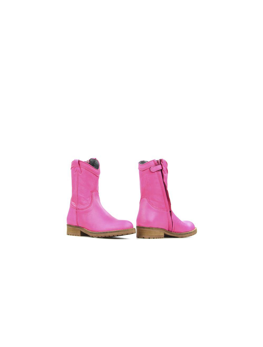 Hip fuchsia roze nappa laarsjes voor meisjes H1368 kinderlaarzen