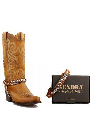 Sendra boot belts Arnes 43 Salvaje Miele - Cognac